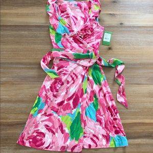 NWT Lilly Pulitzer Wrap dress Hayden print xs